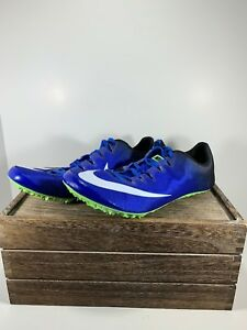 brand new 3c0e9 6154d Image is loading Nike-Zoom-Superfly-Elite-Racing-Track-Spikes-Blue-