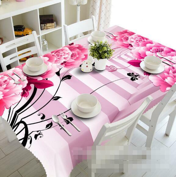 3D Flowers 406 Tablecloth Table Cover Cloth Birthday Party Event AJ WALLPAPER AU