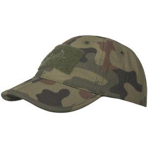 HELIKON MENS BASEBALL CAP ARMY HEADWEAR RIPSTOP HUNTING HAT OLIVE GREEN