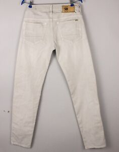 G-Star Brut Hommes 3301 Bas Conique Slim Jeans Extensible Taille W31 L34 BCZ933