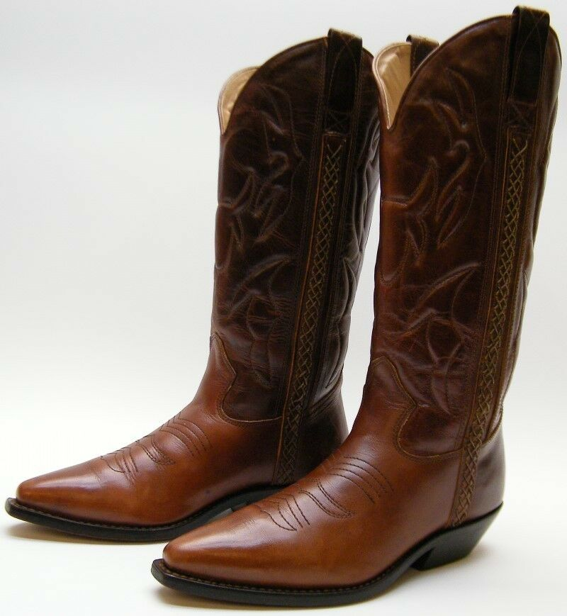 WOMENS COLE HAAN COUNTRY F2025 BROWN LEATHER COWBOY WESTERN BOOTS SZ 7.51 2 AA