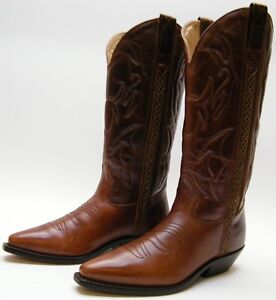 5f24648fd60 WOMENS COLE HAAN COUNTRY F2025 BROWN LEATHER COWBOY WESTERN BOOTS SZ ...