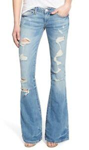 con campana True Religion strappati Womens Jeans Factory distrutti fondo Nwt 26 a Karlie S0w0xvqU