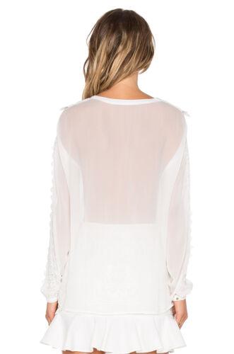 Dot Blanc Taille Blouse Line L Mademoiselle pqwAnEtxg