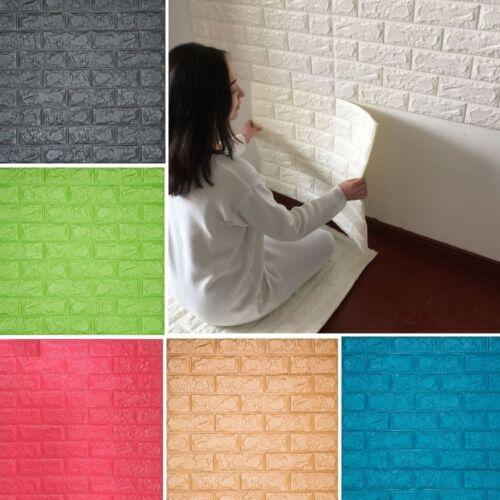 Lots 20Rolls 3D Effect Stone Brick Wall Textured Vinyl Self-adhesive Wallpaper