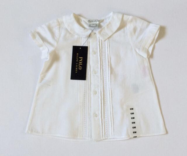 36aceaeae313 Ralph Lauren White Cotton Blouse Baby Girl Age 6mths