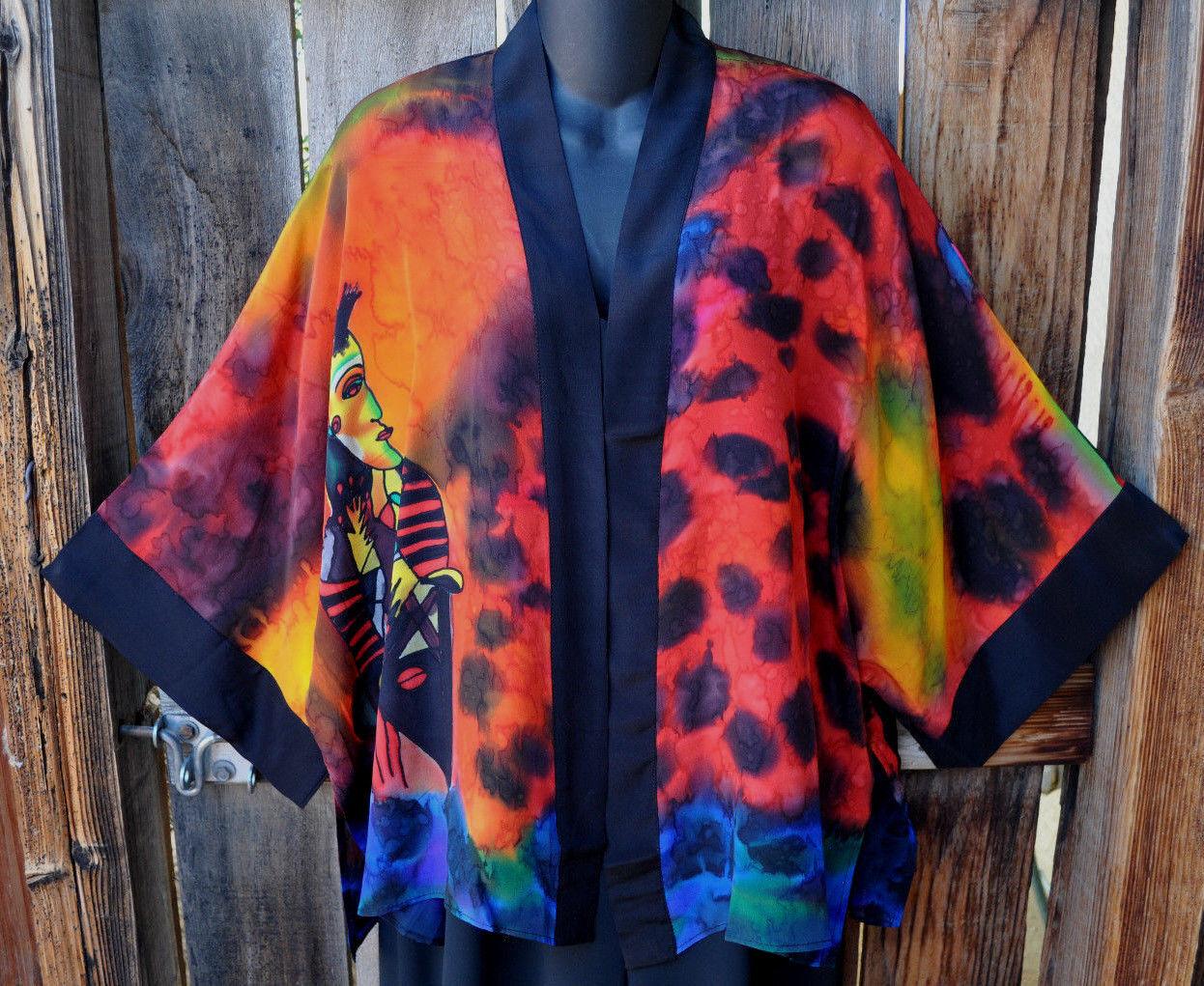 DILEMMA pintado a mano de seda de  inspiración Picasso Arte para llevar Kabuki-uno de una clase, un tamaño   buena calidad