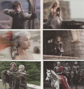 Game-of-Thrones-Valyrian-Steel-L1-18-3-D-Lenticular-Chase-Card-Set