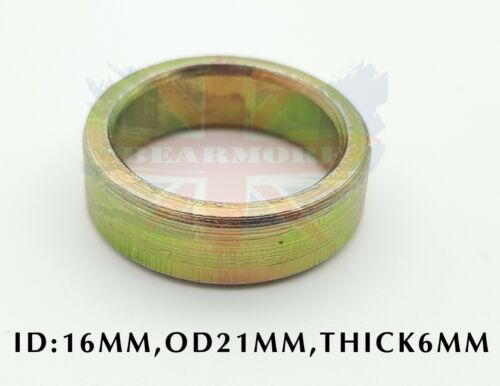 Metal Spacer Distance Bush Ring ID16 x OD21 x THICK6mm UNIVERSAL USE