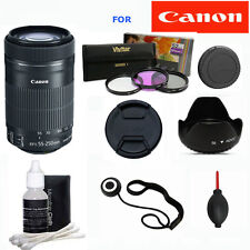 Canon EF-S 55-250mm f/4-5.6 IS STM Lens +GIFTS  FOR CANON REBEL T3 T3I T5 T5I
