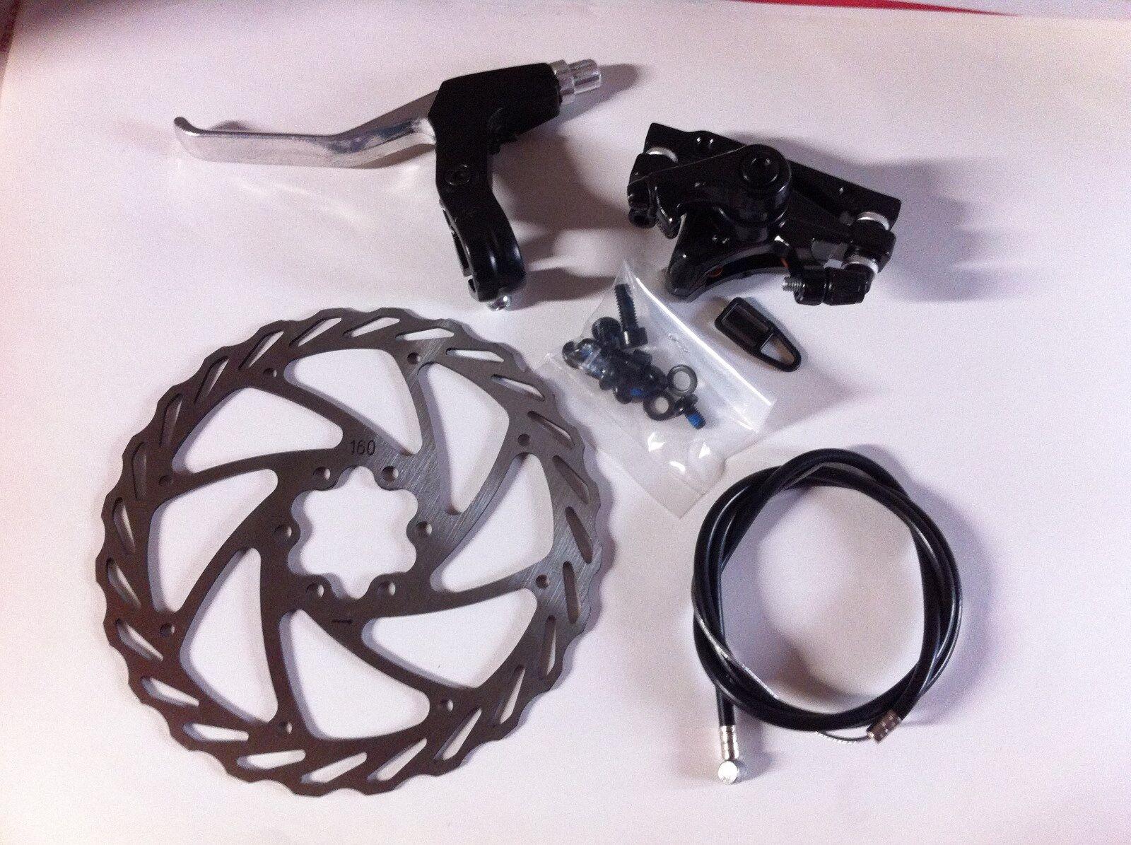 Bicycle Front DISC BRAKE SET 160mm redOR CALIPER CABLE Cruiser BMX MTB Bikes