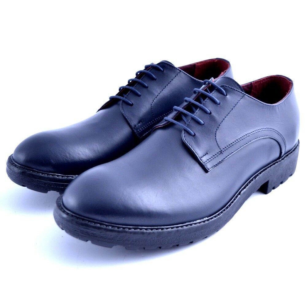Shoes Lace-Up Must Man Leather Blue Elegant Geox