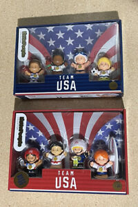Fisher Price Little People Collector ~TEAM USA Olympic Athletes ~ 2020 Both Sets