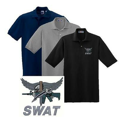 SWAT Tactical Embroidered Polo Sport Shirt M - 5X Police Sheriff ERT SORT EMS