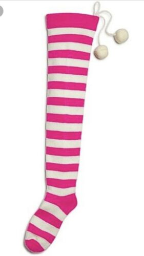 bloomingdales Striped Yarn Christmas Stocking-New