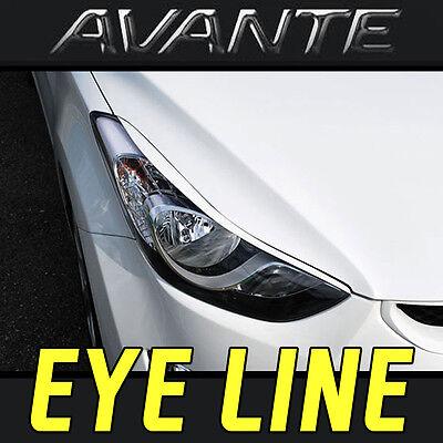 For Hyundai ELANTRA AVANTE 2010-2015 Front Eyelids Eyebrows Headlight Covers