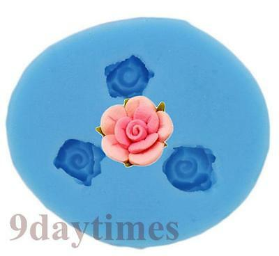 Mini Rose Silicone Mold Mould For Resin Polymer Clay Cameo 9mm A157