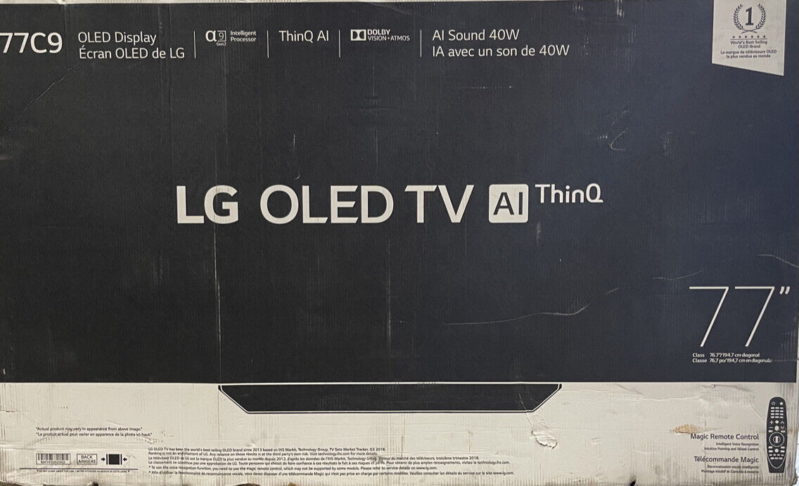 LG OLED77C9PUB 77 4K Smart Ai ThinQ OLED TV Amazon Alexa Google 2019 OLED77C9P. Available Now for 3599.00