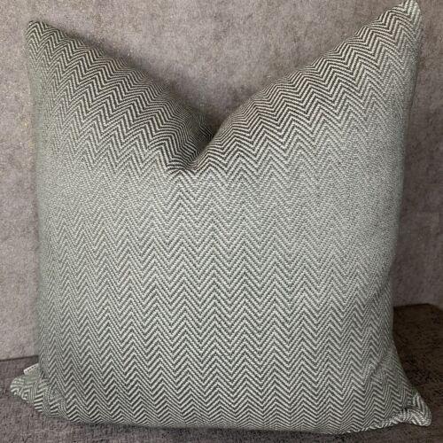 """JOHN LEWIS Croft Herringbone Cushion Cover 18"""" Nettle Green Modern Look Fabric"""