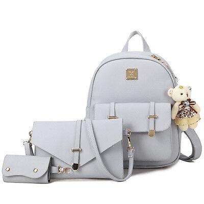 Fashion Women's Girls Leather Travel Shoulder Backpack School Rucksack Bags
