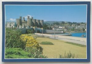 Castell-a-Thref-Conwy-Castle-and-Town-1987-Postcard-P339