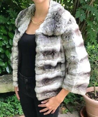 Chinchilla Jacke und Mütze Set Echtpelz Mantel | eBay