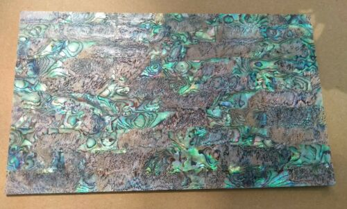 Paua Shell  Heart  Veneer  9 x 5 inch sheet Good Quality