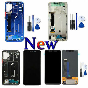 For OEM   Mi 8 LCD Display Touch Screen Digitizer &Frame Assembly Part+Tool