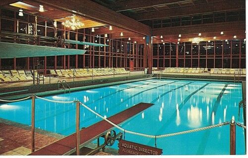 Postcard NY Grossinger/'s Hotel Catskills Chrome Indoor Swimming Pool Diving