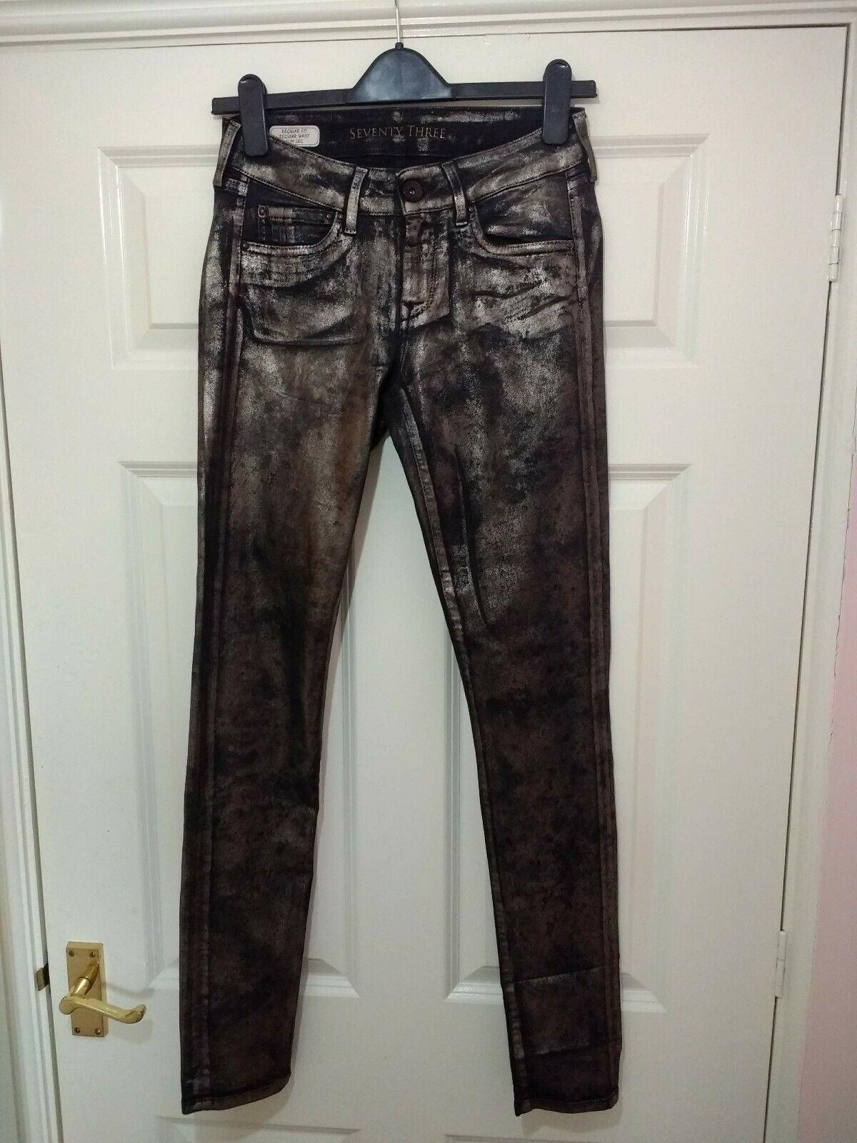 Rare Seventy Three Pepe Jeans Bronze Metallic Jeans Regular Fit Slim Leg