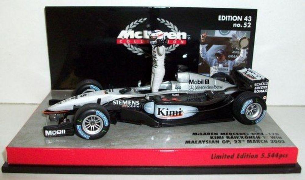 McLAREN MP4-17D K.Raikkonen 1st Win GP Malaysia 2003 1 43 530034326 Minichamps