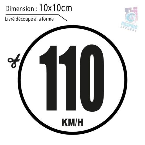 110 KM//H LIMITATION VITESSE BUS TRACTEUR POIDS LOURD ADHÉSIF AUTOCOLLANT STICKER