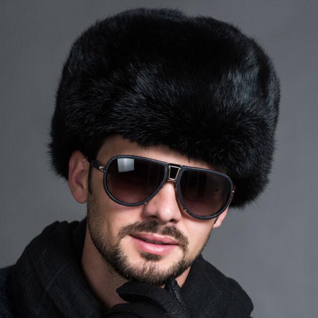 Hot Men Ushanka Winter Simulation Faux Fur&Leather Russian Cossack Trapper Hats