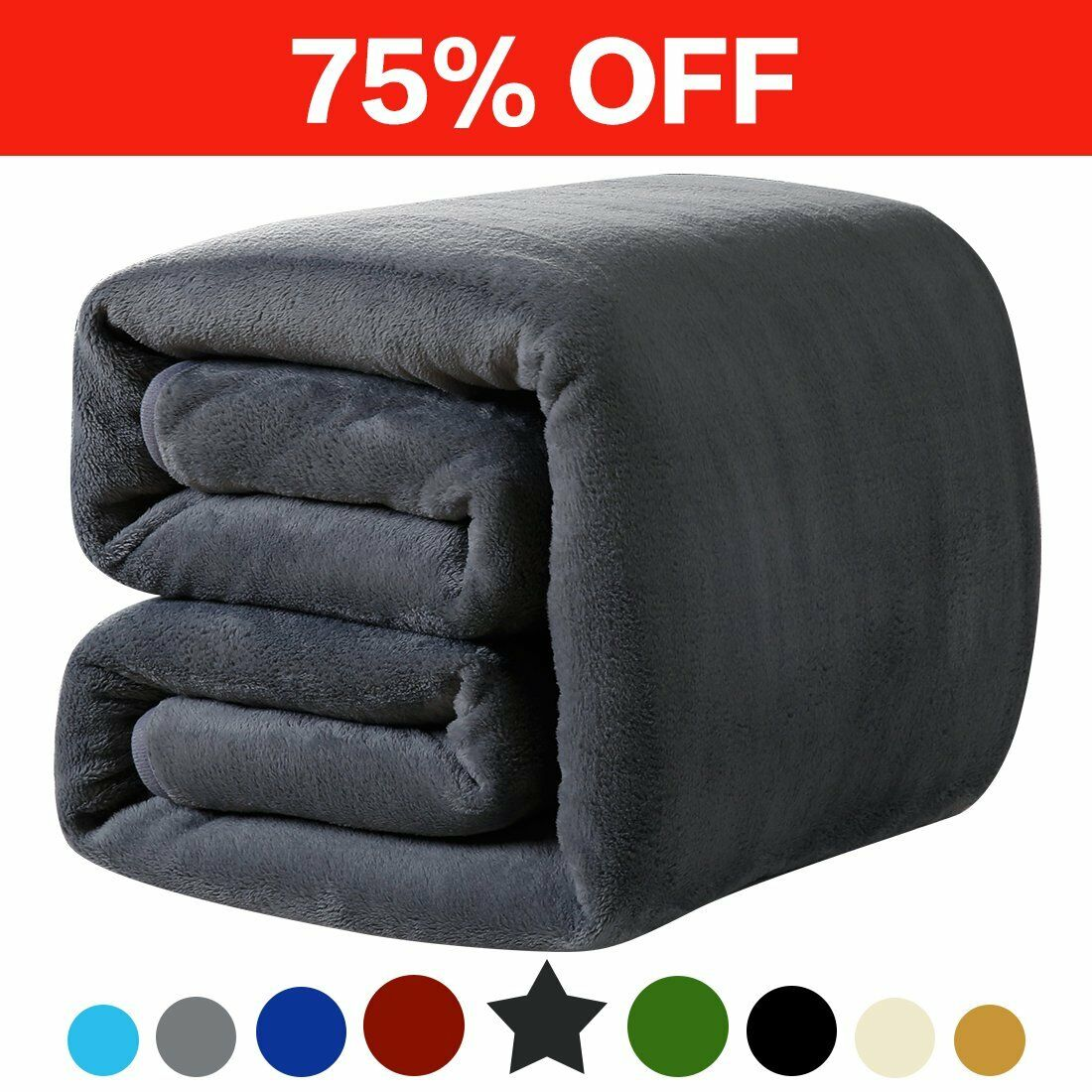 LEISURE TOWN Fleece Blanket King Size Soft Summer Cooling Breathable Luxury