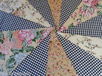 40ft Fabric Flag Bunting Wedding Vintage Shabby Handmade flower Baby chic Garden