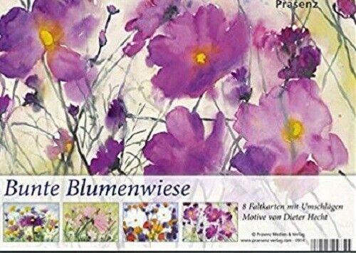 8 Faltkarten mit Umschlag KK-Box Bunte Blumenwiese