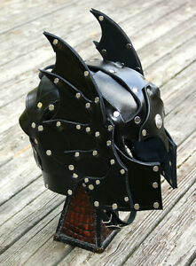 Details about Hawk Faced Leather Helmet Fantasy Armor SCA LARP Helm  medieval armour knight