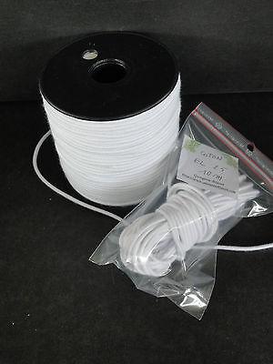 2.5mm (10 Metri) Elastico In Cotone Per Riparazione Per / Bambola Vintage