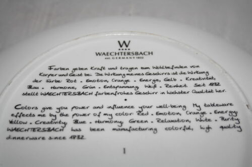 Akzente Urbana Ornament grün Wächtersbach 21cm Teller 360ml Tasse Waechtersbach