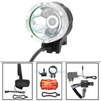 5000lm Cree Xm-l T6 Led Bike Bicycle Light Headlamp Rear Light +battery+ Charger on sale