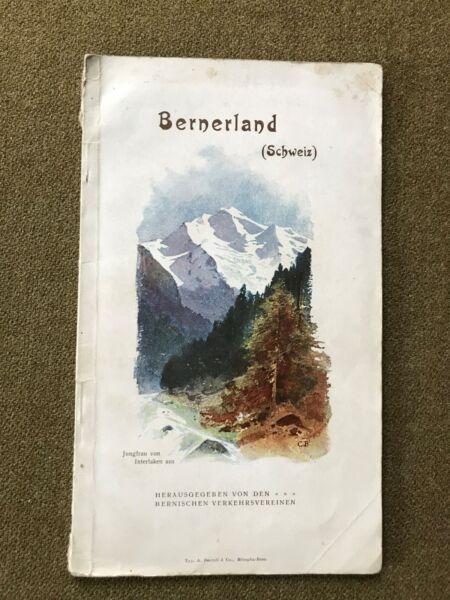 2019 Neuer Stil Bernerland Schweiz,reise Führer Ca.1910, Benteli & Co.,teilw.farbige Abbildungen SchöNer Auftritt