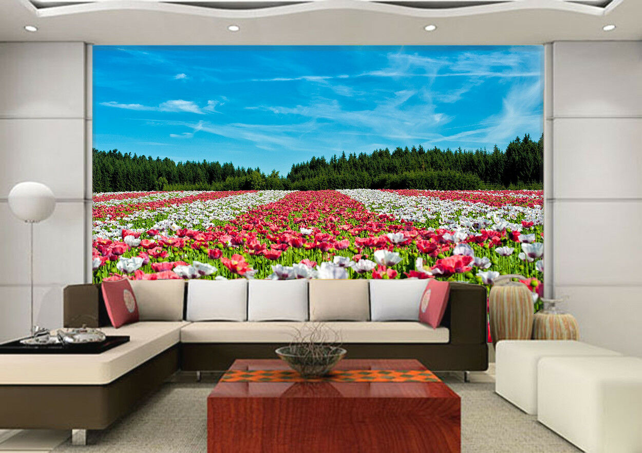 3D Himmelbluemen 628 Tapete Tapeten Mauer Foto Familie Tapete Wandgemälde DE