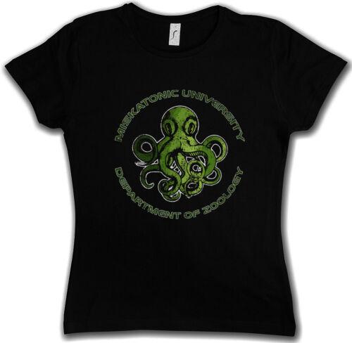 Miskatonic University Department of Zoology T-shirt Femmes Boots CTHULHU Lovecraft