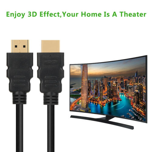 50Ft 15M 1.4 HDMI To HDMI M//M Cable Gold-Plated 1080P HDTV LCD 3D XBOX BLURAY CA