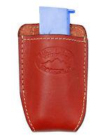 Barsony Burgundy Leather Magazine Pouch Makarov Feg Mini/pocket 22 25 380
