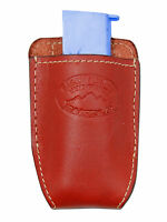 Barsony Burgundy Leather Magazine Pouch Makarov Feg Mini/pocket 22 25 380