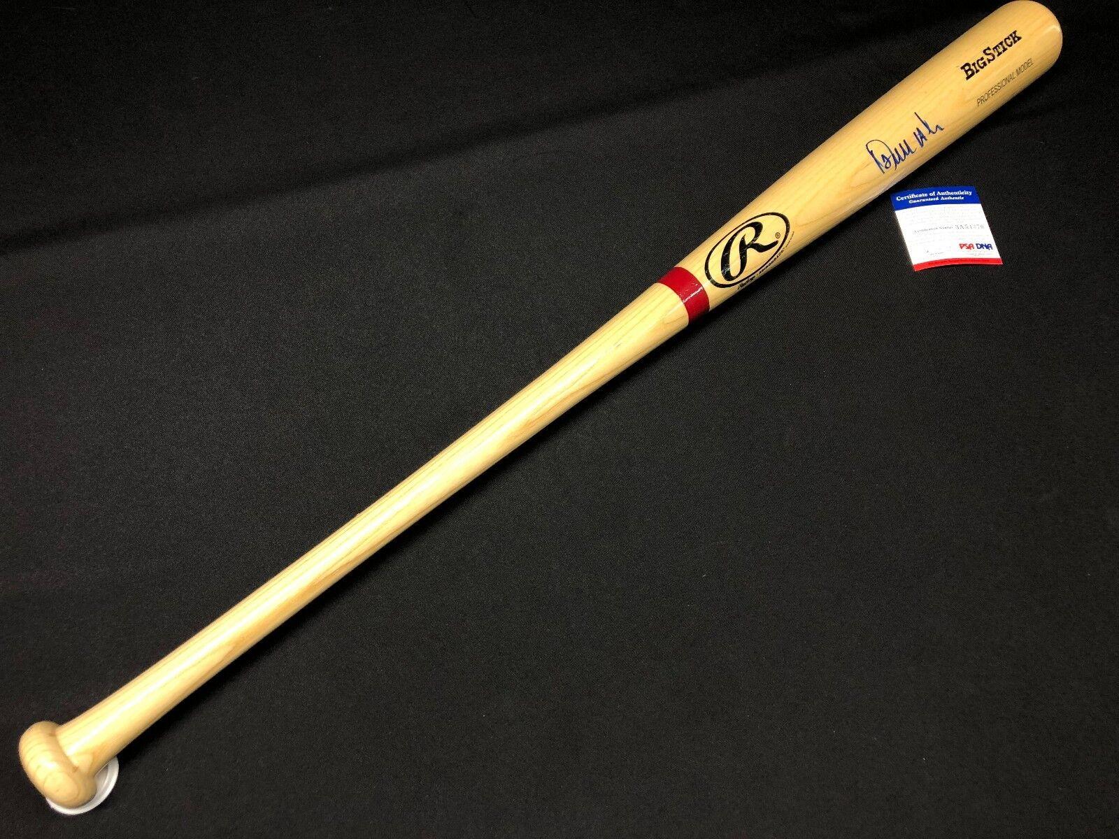 Erick Aybar Signed Ash Rawlings Big Stick Baseball Bat *Angels PSA 3A54370