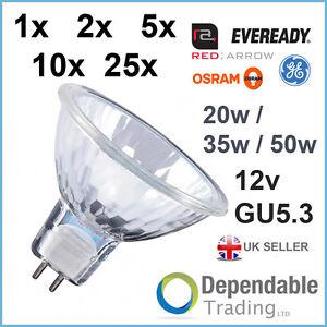 branded mr16 20w 35w 50w halogen spotlight lamp 12v gu5. Black Bedroom Furniture Sets. Home Design Ideas