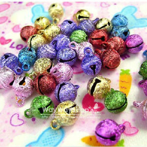 100-X-Huge-Assorted-Color-8mm-Jingle-Bell-Charms-craft