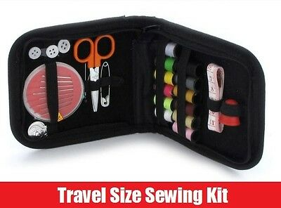 36Pc Mini Travel Emergency Sewing Kit Case Needles Scissors Tape Camping Holiday